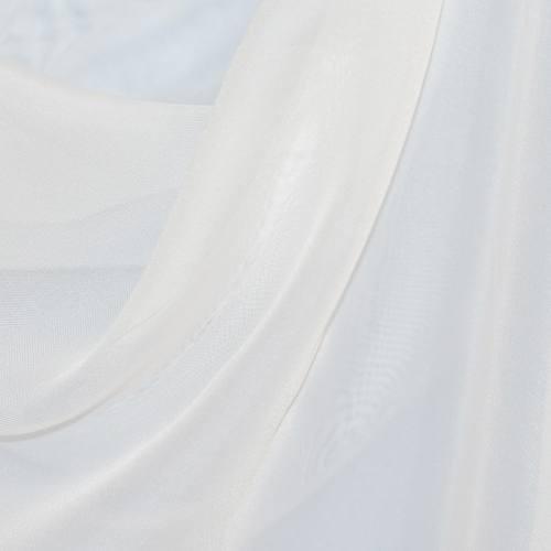 Voilage blanc non feu M1 plombé grande largeur