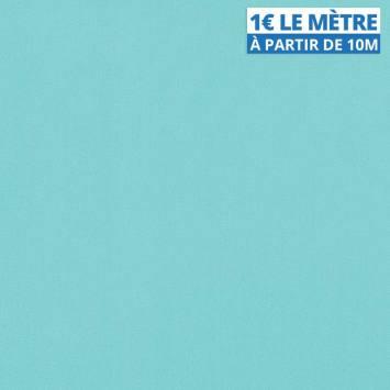 Toile polyester unie bleu turquoise
