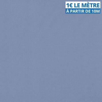 Toile polyester unie bleu clair