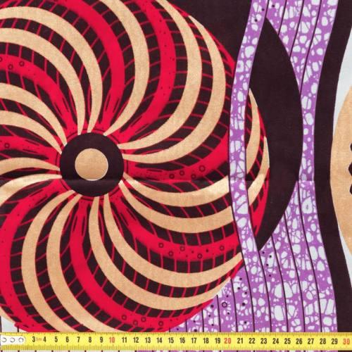 Wax - Tissu africain motif mandala pailleté 78