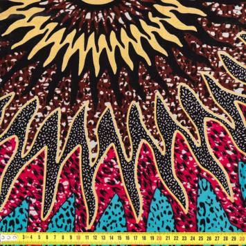Wax - Tissu africain multicolore 254