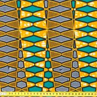coupon - Coupon 37x116cm - coupon - Coupon 0.37m - Wax - Tissu africain géom orange 217