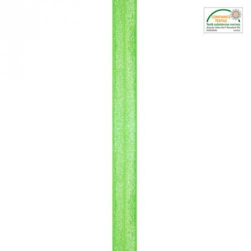 Biais élastique vert anis 15mm