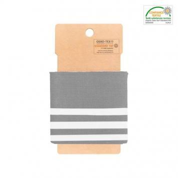 Bord-côte gris à rayures gris clair
