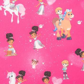 Coton Nickelodeon fuchsia Nella princesse chevalier et cie.