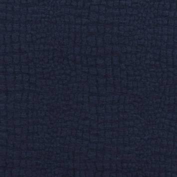 Jacquard croco bleu marine
