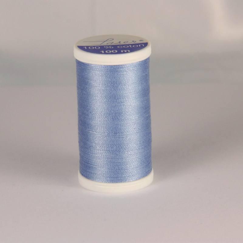 Fil coton laser bleu clair 3222
