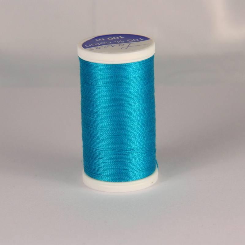 Fil coton laser turquoise 3227