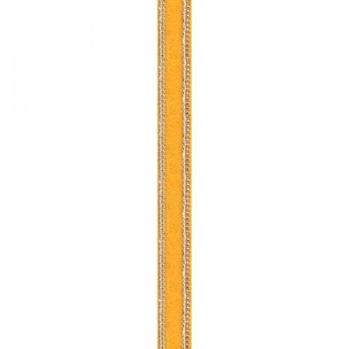 Galon indien velours ocre et chainette dorée