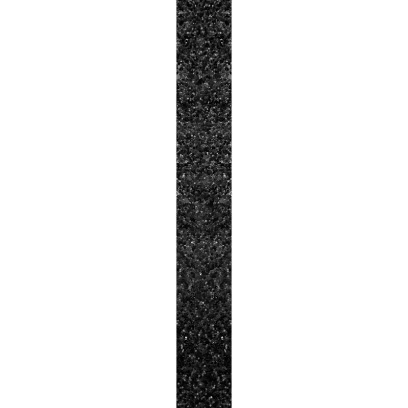 Galon pailleté noir mat 25 mm