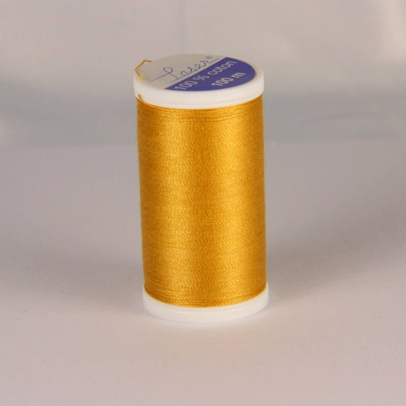 Fil coton laser jaune moutarde 3636