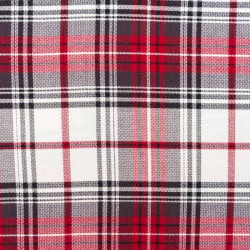 coupon - Coupon 0.80m - Tissu viscose imprimé carreau rouge