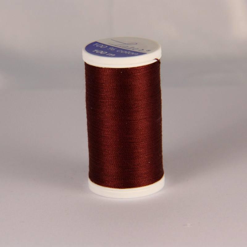 Fil coton laser marron foncé 3860
