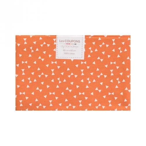 Coupon 40x60 cm coton orange yodiz