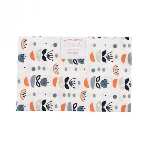 Coupon 40x60 cm coton orange anisa