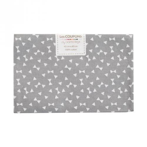 Coupon 40x60 cm coton gris yozid