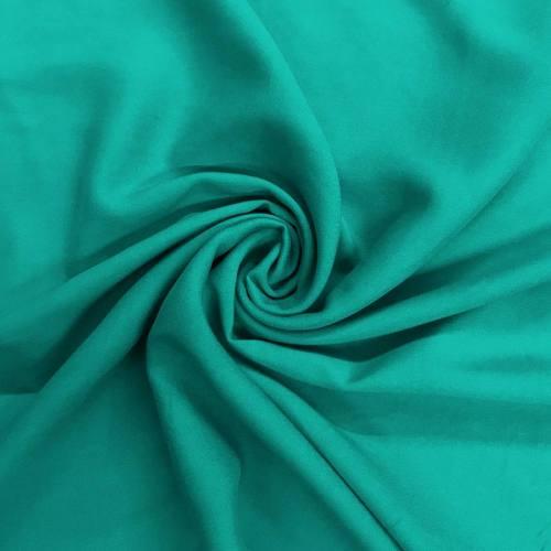 Tissu viscose uni vert emeraude