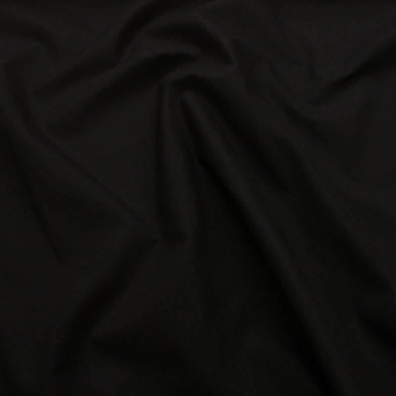 Coupon 0.65m - Toile coton ignifugée M1 noir