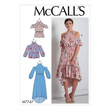 Patron McCall's M77447 : Haut et Robes 34-42