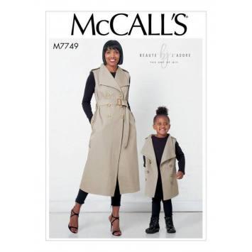 Patron McCall's M77449 : Robes trench enfant 3 à 8 ans