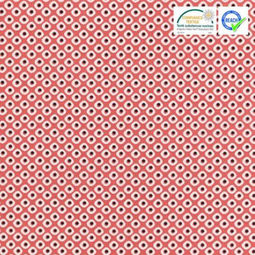 Coton rouge vermillon motif pakla