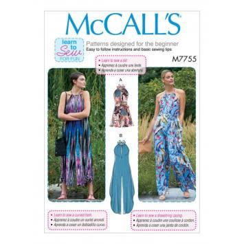 Patron McCall's M7755 : Combinaison pour femme 34-42