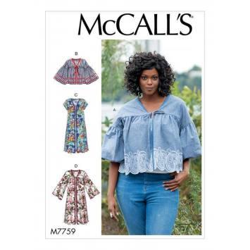 Patron McCall's M7759 : Blouses 34-42