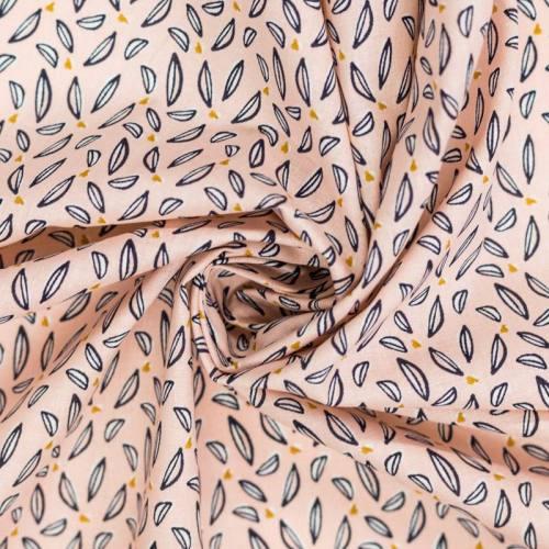 Coton rose motif hoja