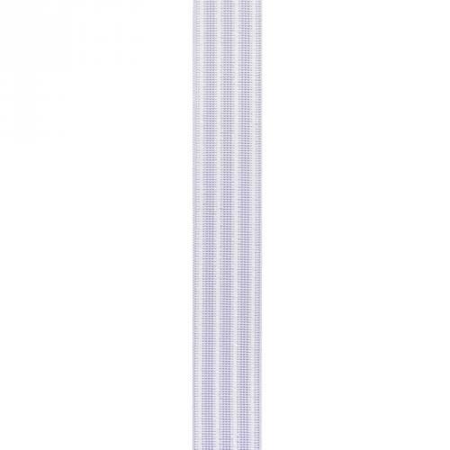 Elastique blanc gauffré 30 mm