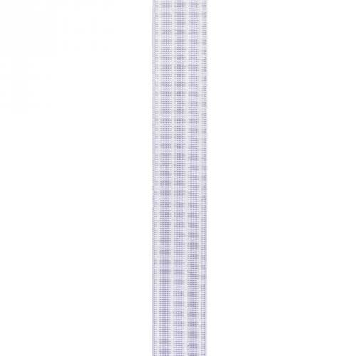 Elastique blanc gaufré 30 mm