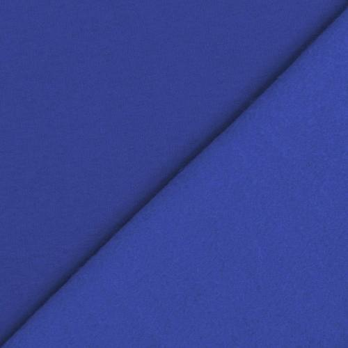 Tissu molleton uni bleu