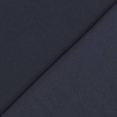 Tissu molleton uni bleu marine