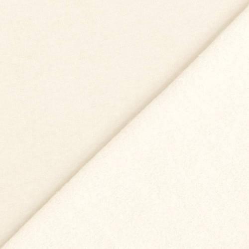 Tissu molleton uni écru