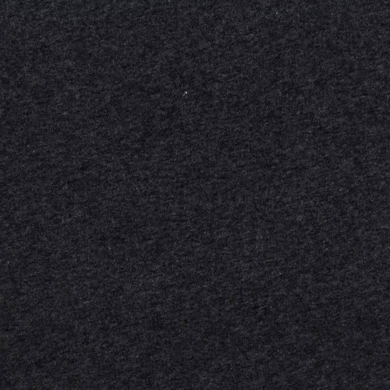 Tissu molleton uni gris