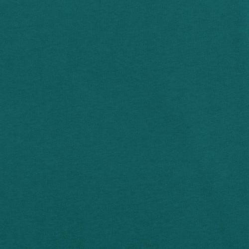 Tissu molleton uni bleu canard