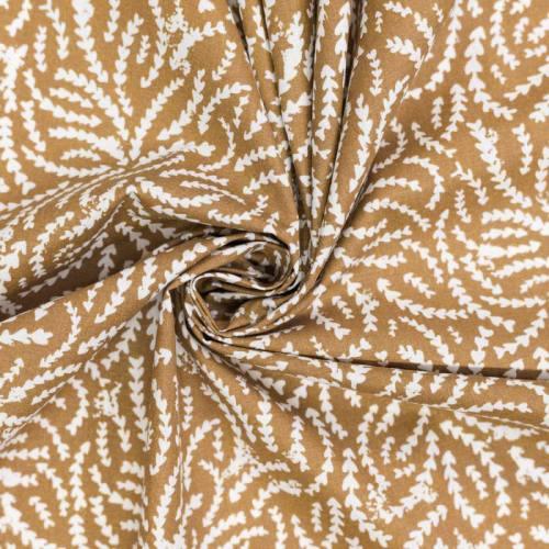 Coton chamois motif branche rewa
