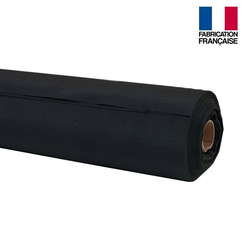 Rouleau 20m toile coton ignifugé M1 noir