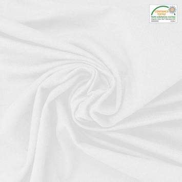 Jersey bambou Oeko-tex blanc