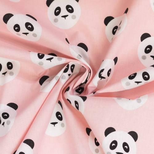 Coton rose motif panda maotey