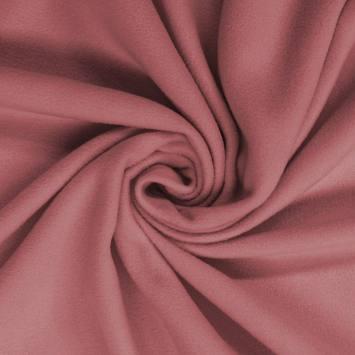 Polaire mate unie vieux rose