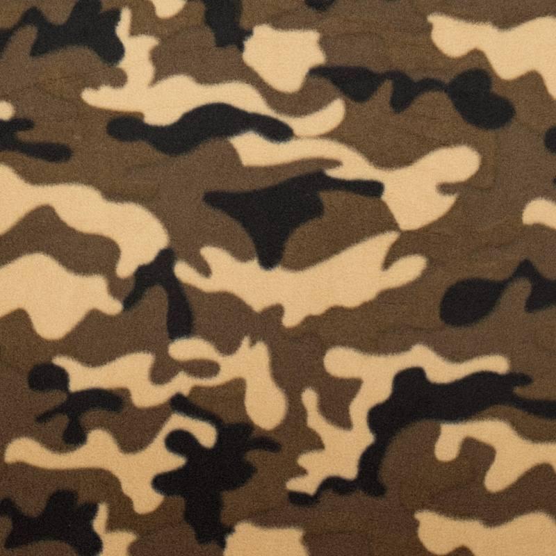 768dd529426c38 Polaire motif camouflage marron