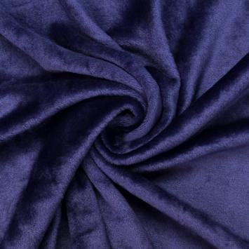 Polaire soyeuse unie bleu outremer