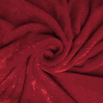 Polaire soyeuse unie rouge carmin