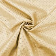 Simili cuir extensible perforé doré
