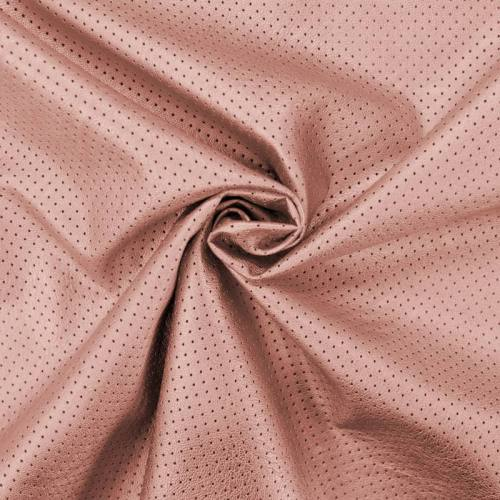 Simili cuir extensible perforé rose gold