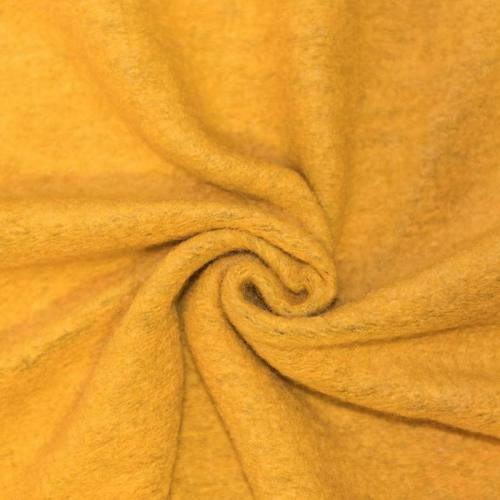 Tissu lainage jaune moutarde