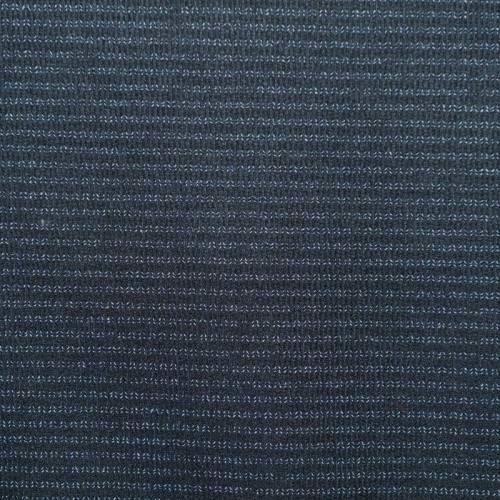 Tissu lainage bleu nuit effet tissage fils blancs