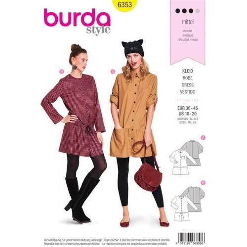 Patron Burda 6353 : Robe Taille 36-46