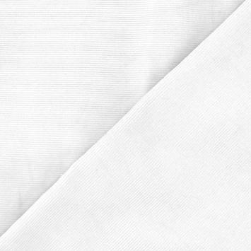Velours côtelé milleraies blanc