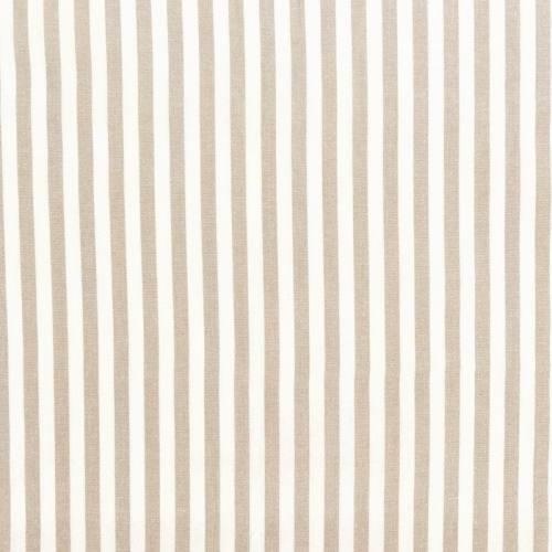 Toile coton effet tissé rayures écrues et lin